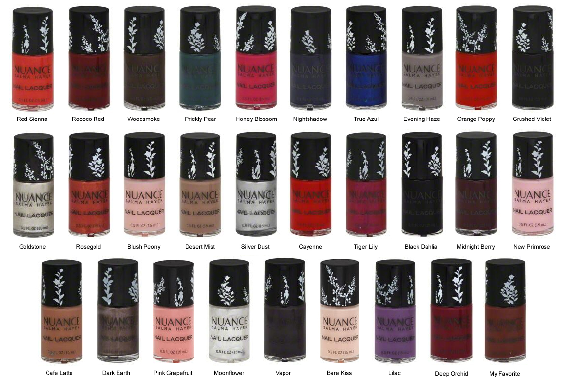 Salma Hayek created a collection of nail polishes 18.11.2012 25