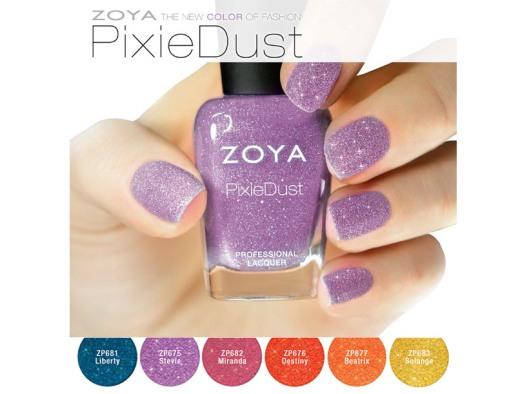 zoya pixiedust summer 2013