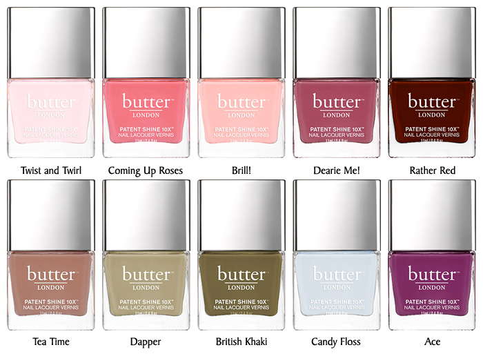 Butter London Patent Shine 10X Collection – Spring 2016