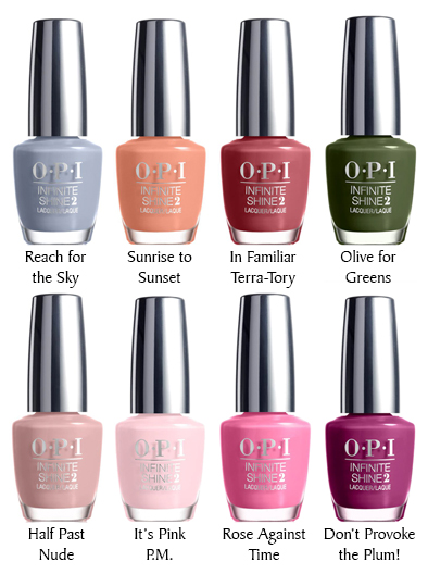 Opi Infinite Shine Collection Spring 2016 The Polish Garden